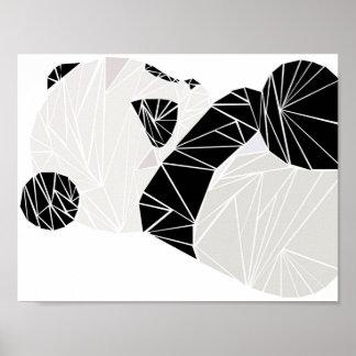 Poster Panda géométrique