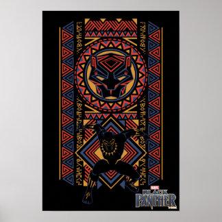 Poster Panneau de panthère noire de la panthère noire |