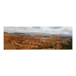 Poster Panorama d'amphithéâtre de canyon de Bryce
