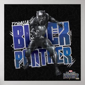 Poster Panthère noire | T'Challa - graphique de panthère