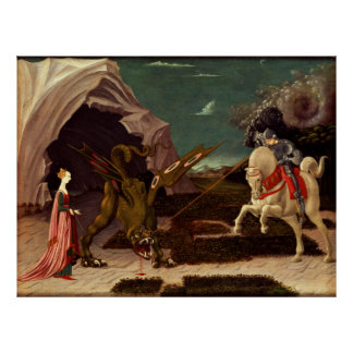 Poster PAOLO UCCELLO - St George et le dragon 1470