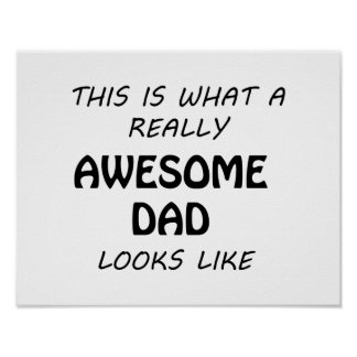 Poster Papa impressionnant