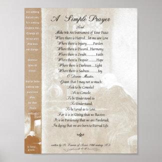 Poster PAPE FRANCIS= ST FRANCIS PRAYER= SIMPLE St Teresa