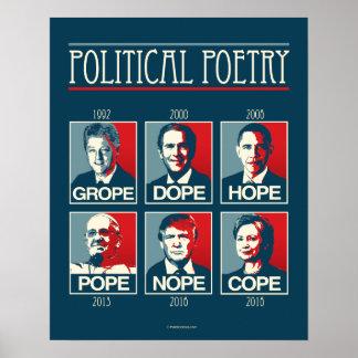 Poster Pape Nope Cope d'espoir de dopant de tâtonnement