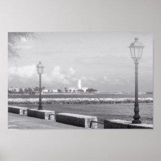"""Poster Papier d'affiche Black&White """"promenade """""""
