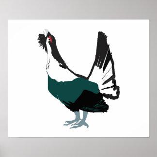 Poster Papier d'affiche de valeur d'art d'oiseau de