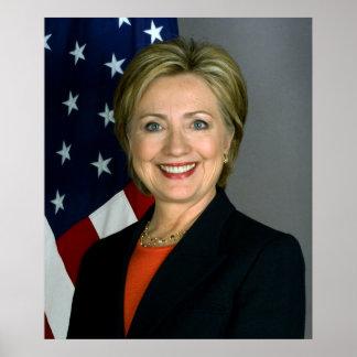Poster Papier d'affiche de valeur de Hillary Clinton