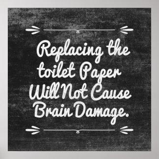 Poster Papier hygiénique