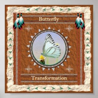 Poster Papillon - copie d'affiche de transformation