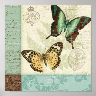 Poster Papillons jumeaux