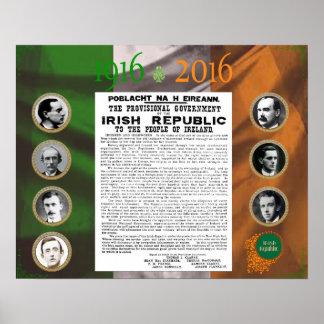 Poster Pâques se levant affiche 1916 - 2016 commémorative