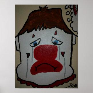 Poster Par les yeux d'un clown Hearted cassé