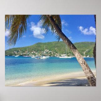 Poster Paradis des Caraïbes