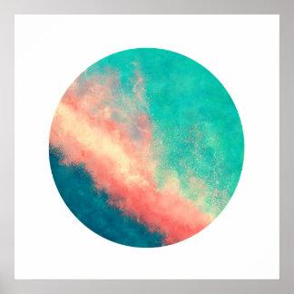 Poster Paradis rose de sable (cercle de zen)