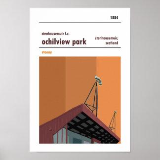Poster Parc d'Ochilview, Stenhousemuir. Copie de stade