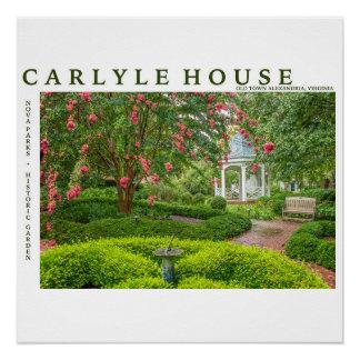 Poster Parc historique et jardin de Chambre de Carlyle