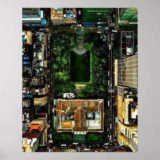 Poster Parc Manhattan NYC de Bryant de vue d'oeil