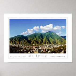 Poster Parc national d'Avila de ville de Caracas