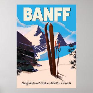 Poster Parc national de Banff dans Alberta, Canada