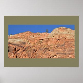 Poster Parc national de Zion de falaise de grès