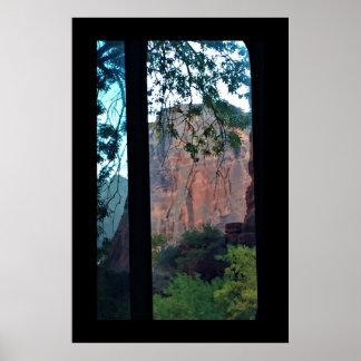 Poster Parc national de Zion de montagne