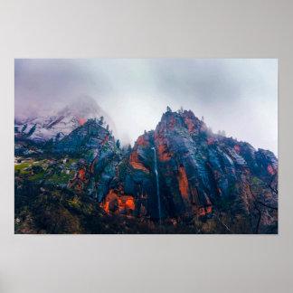 Poster Parc national de Zion nuageux