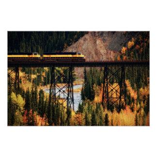 Poster Parc national et conserve Etats-Unis Alaska de