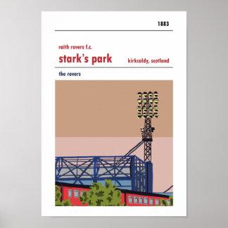 Poster Parc rigide, Kirkcaldy. Copie manuelle de style de