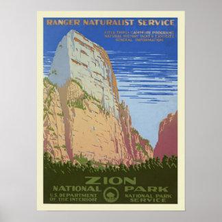 Poster Parc vintage de Zion
