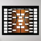 Poster Parenthèse de tournoi de basket-ball