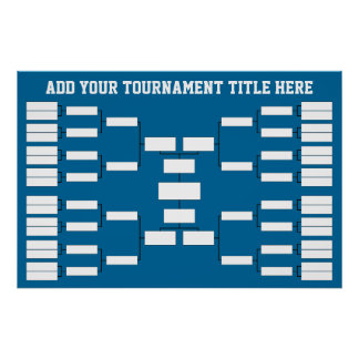Poster Parenthèse de tournoi de sports