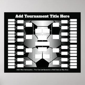 Poster Parenthèse de tournoi du football pour 32 équipes