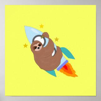 Poster Paresse attachée de l'espace