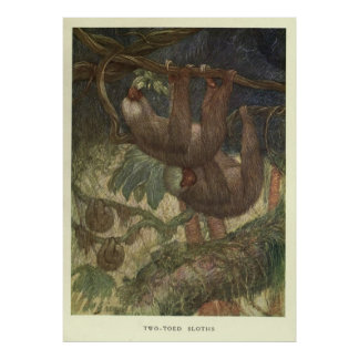 Poster Paresse vintage Painting (1919)