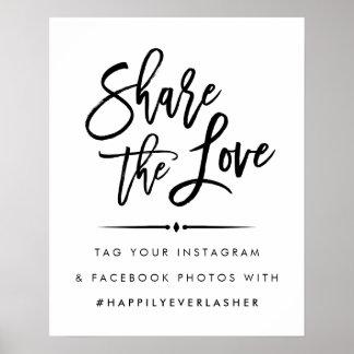Poster Partagez l'amour   Hashtag l'épousant moderne