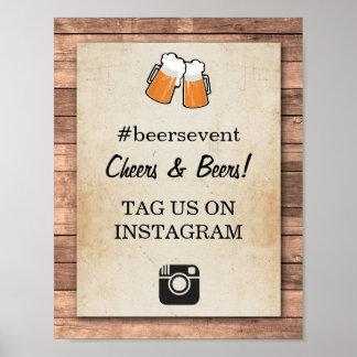 Poster Partie d'événement de photo de signe d'Instagram