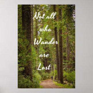 Poster Pas tous ce que Wander sont perdu