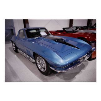 Poster Pastenague 1967 de Chevrolet Corvette