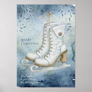 Poster Patinage de glace de Noël