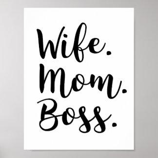 Poster patron de maman d'épouse