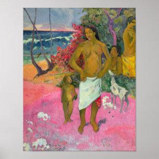 Poster Paul Gauguin | une promenade par la mer, 1902
