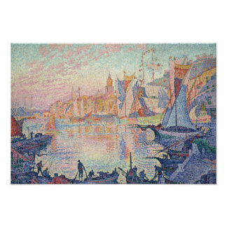 Poster Paul Signac - le port du Saint-Tropez
