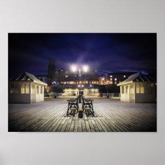 Poster Pavillon de pilier de Cromer la nuit - Norfolk R-U