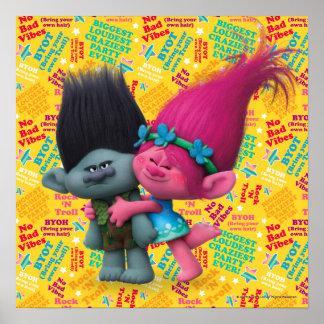 Poster Pavot des trolls | et branche - aucun mauvais