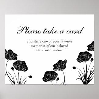 Poster Pavots - prenez une carte - souvenirs de part -