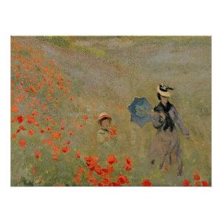 Poster Pavots sauvages de Claude Monet |, près