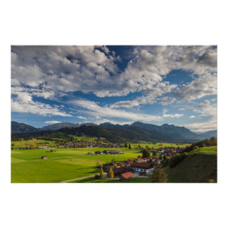 Poster Paysage alpin bavarois