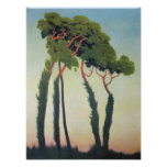 Poster Paysage avec Trees, 1911