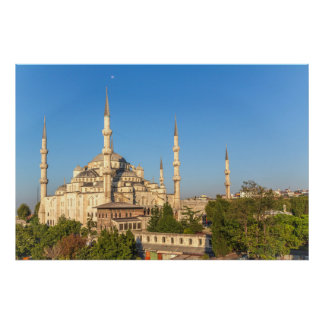 Poster Paysage bleu de mosquée