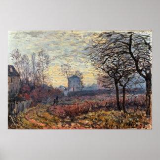Poster Paysage d'Alfred Sisley   près de Louveciennes